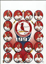 1997 ST LOUIS CARDINALS 8X10 PICTURE MLB