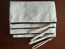 10x Eco DIY cotton Canvas Makeup bag Wash Cosmetic clutch bag Pencil Case Pouch