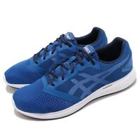 Asics Patriot 10 Imperial Blue White Men Running Shoes Sneakers 1011A131-402