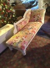 Vintage /antique Floral Chaise Longue Laura Ashley Painted, Deliver Locally