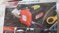 12V POMPA DI ASPIRAZIONE OLIO Ultimate-Adatto per Olio Motore-Si Adatta Nissan, Toyota,