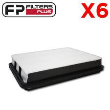 6 X NE1010 Air Filter - Cross References Ryco A1522, Wesfil WA1178, 1780151010