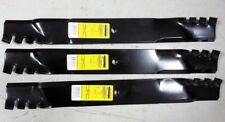 Set of 3 heavy duty John Deere 60 Z-Track mulching mower blades M163983 M128485