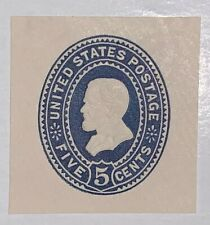 Travelstamps: Us Stamps 1887 Scott #U330 5c Blue Grant Early Cut Square