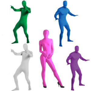 Photography Green Screen Tight Body Suit Invisible Halloween Costume Cosplay
