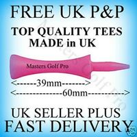 100 Pink Plastic Castle/Step/Grad Golf Tees: Tee up Height 39 mm FREE P+P to UK