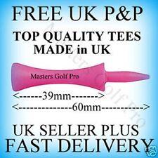 100 in Plastica Rosa CASTELLO passo / / GRAD Golf Tees: T verso l'alto Altezza 39 mm libero P+P A UK
