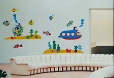 Submarine Ocean Removable Wall Decor Sticker KIDS NURSERY ROOM Multicolors USA
