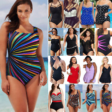 Plus Size Monokini Push Up Tummy Control Bikini Swimsuit Summer Beach Costume