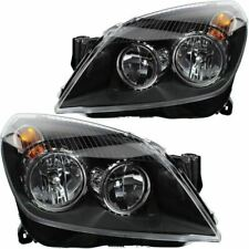 Vauxhall Astra H Mk5 Convertible 2004-6//2007 Black Headlights Headlamps 1 Pair