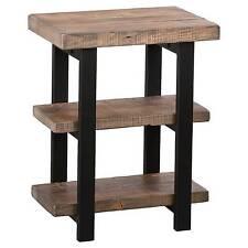 Bolton Furniture AMBA0220 Pomona 2 Shelf End Table Rustic Natural