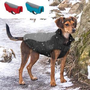 Warm Fleece Dog Coat Reflective Waterproof Small Medium Pet Jacket Winter Outfit