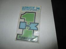vintage retro sew on badge kawasaki number one
