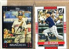 Joe Mauer - 2 Card Lot-1 2007 Topps + 1 2015 Donruss-Mint Condition-Twins