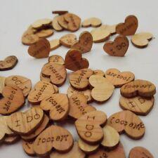 100Pcs Amore Cuore faccio anche ME tavolo in legno arredamento FETTE MATRIMONIO BOMBONIERE