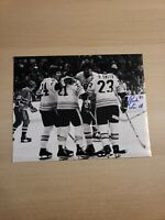 "Rick Smith Autographed 14""x11"" Photograph Boston Bruins Celebration"