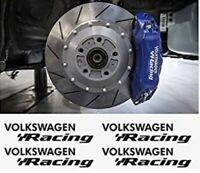 4 Pegatinas sticker aufkleber caliper brake volkswagen Racing pinzas freno 9 cm