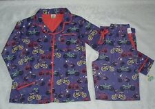 Munki Munki Purple Bike Love Flannel Pajamas XS Bicycle Womens Extra Small NEW