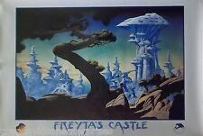 Freyjas Castle 24x36 Roger Dean Art Poster Yes