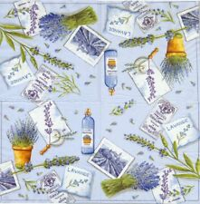 2 Serviettes en papier Lavande Decoupage Paper Napkins Lavender