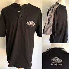 OLD ROAD HARLEY-DAVIDSON MOTORCYCLES Santa Clarita, CA Henley Shop T-Shirt Large