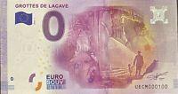 BILLET 0  EURO GROTTES DE LACAVE FRANCE  2016 NUMERO 100