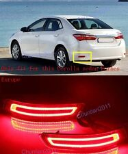 Rear LED Light Fog Lamp Brake Bumper for 2014-2016 Toyota Corolla Forbes Europe