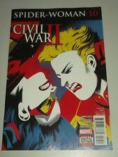 SPIDERWOMAN #10 MARVEL COMICS CIVIL WAR II NM (9.4)