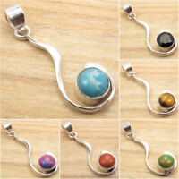 925 Silver Plated Highly Polished Pendant, Antique Look Jewelry for Her