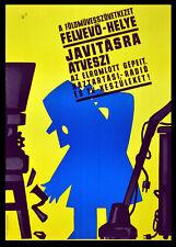 Un foldmuvesszovetkezet felvevo-helye 1965 Gyorgy PAL POSTER ungherese