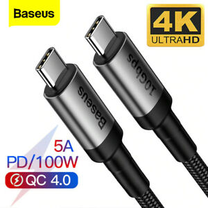 Baseus USB 3.1 Gen2 Type C to Type C Cable 10Gbps 5A 100W PD Fast Charge 4K 60Hz