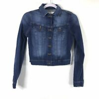 Jessica Simpson Womens XS Blue Jean Denim Crop Jacket       N