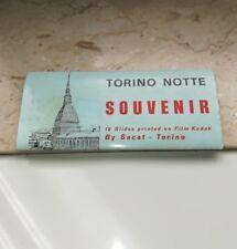 12 Diapositive a colori Kodak film Torino Notte