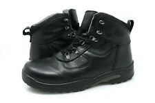 Drew Rockford Mens 12 W Black Tumbled Leather Orthotic Boots