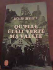 Richard llewellyn: qu'elle était verte ma vallée/ Le Livre de Poche