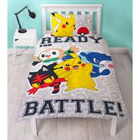 "Pokemon ""LAREDO"" Ropa de cama 135 x 200 Juego de cama Set Niños Pikachu NUEVO"