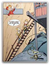 Affiche Serigraphie SPIROU FANTASIO Franquin Le Prisonnier du Bouddha 73,2x98,2