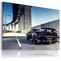 LAMBORGHINI HURACAN BLACK Sports Cars Wall Art Canvas Picture AU499 MATAGA