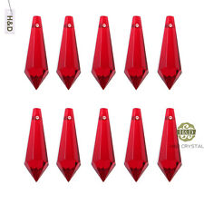20pcs Red Crystal Chandelier Glass Lamp Lighting Part Prisms Drop Pendants 38mm