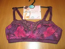 Marks & Spencer Post Surgery super soft lace non wired purple bra size 36A