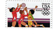 84 OLYMPIC VAULTING VOLLEYBALL FENCING CYCLING 35c Air 4 MNH US Stamps~Free S&H~