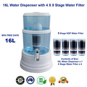 Aimex 8 Stage Water Filter with 4 Filters 16L Dispenser Bench Top Water Purifier