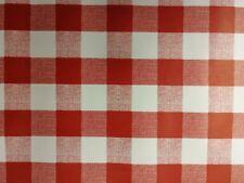 Redondo Hule Lavable 2.5cm rojo cuadros vichy Fácil De Limpiar Vinilo Mantel