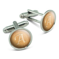 Letter A Wooden Engraving Men's Cufflinks Cuff Links Set