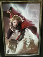 Marvel Fine Art Legends Thor LE Giclee on Canvas Signed by Stan Lee