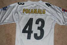 247c4d75992 Men s  43 Troy Polamalu Pittsburgh Steelers Super Bowl XL 40 NFL Jersey  (Large)