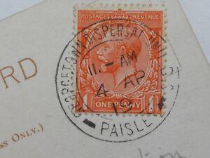 Rare postmark Georgetown Dispersal Unit Paisley guaranteed 100% genuine postcard