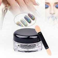 Holographic Poudre Laser Nail Glitter arc-en-Pigment Manucure Chrome Pigment AS