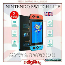 2 Pack High Aluminum 9H Tempered Glass Film Protector Cover Nintendo Switch Lite