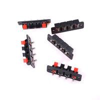 Single Row 4 Pin 4 Position Speaker Terminal Board Connectors 5 Pcs HF